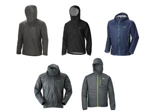 Lightweight packable rain jackets