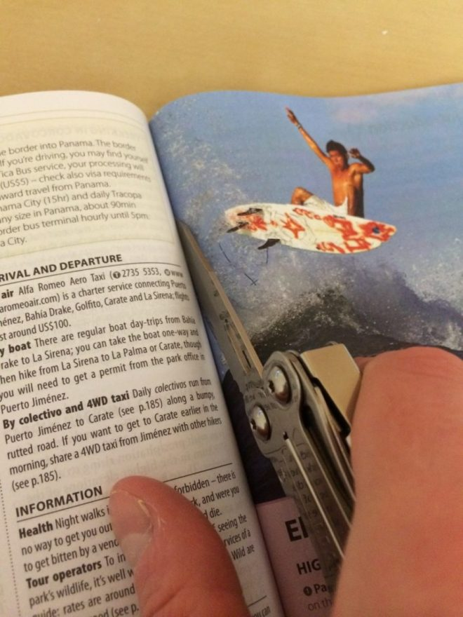 Guidebook cutting