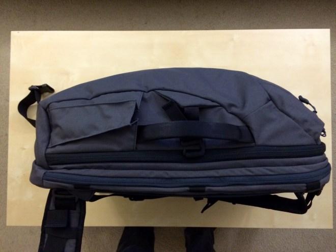 Minaal backpack handle side view