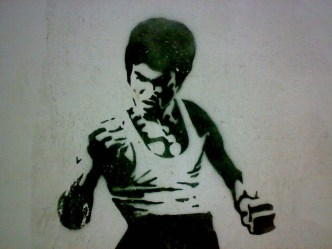 Bruce Lee graffiti