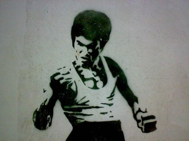 Bruce Lee graffiti