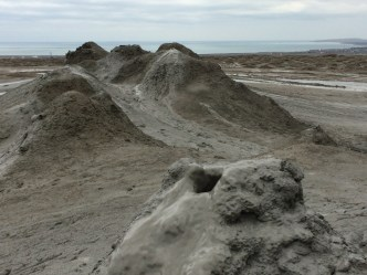 Mud volcano closeup