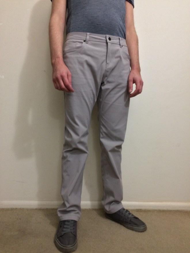 Western Rise AT Slim Rivet pant worn front