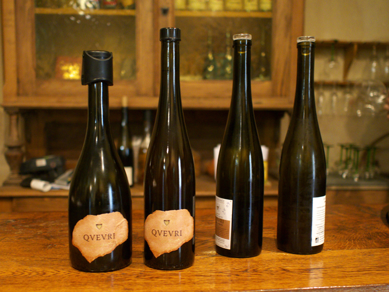 Four of the wines tasted at Domaine Laurent Bannwarth