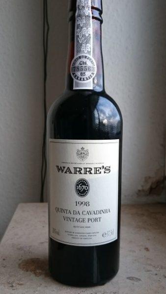 Front label for Warre's Quinta da Cavadinha 1998 vintage port