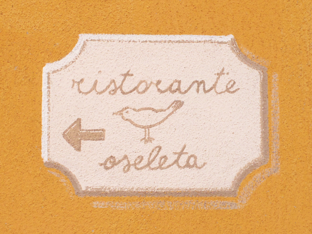 Sign for the Ristorante Oseleta