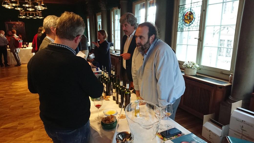 Miguel Jesús Márquez presents his wines in Zurich.