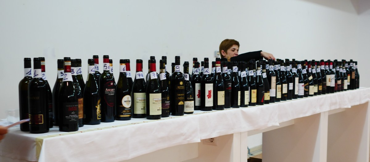 68 botles of Amarone for the Anteprima Aarone 2015