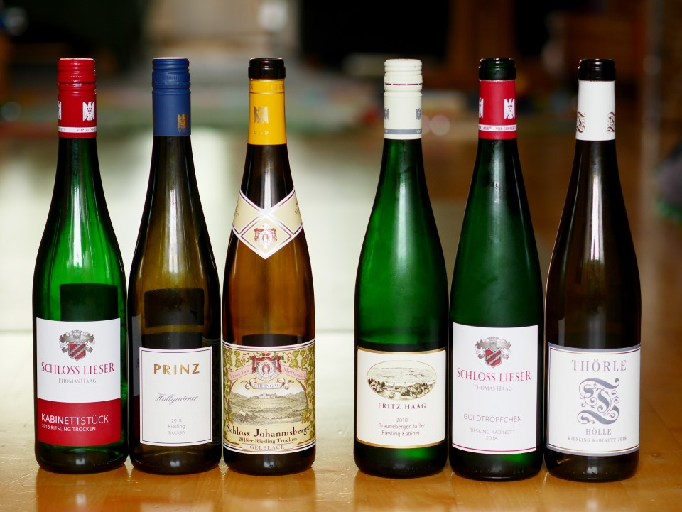 Six bottles of German Riesling vintage 2018 for the summer
