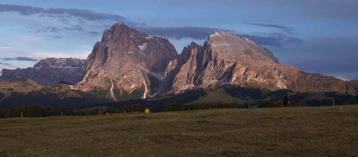 A view of the Dolomites from the Seiser Alm