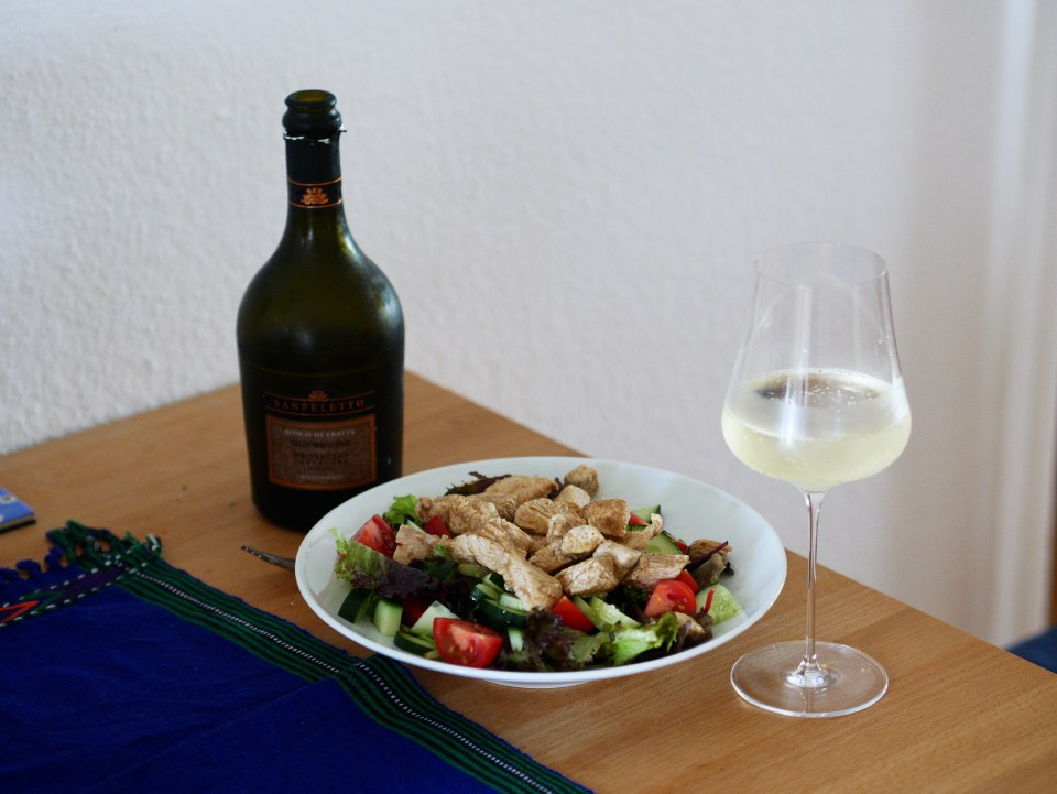 Prosecco and Turkey Salad