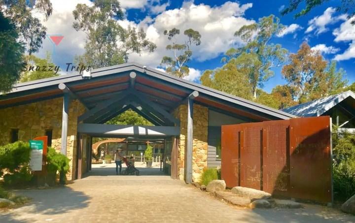entrance to Healesville sanctary