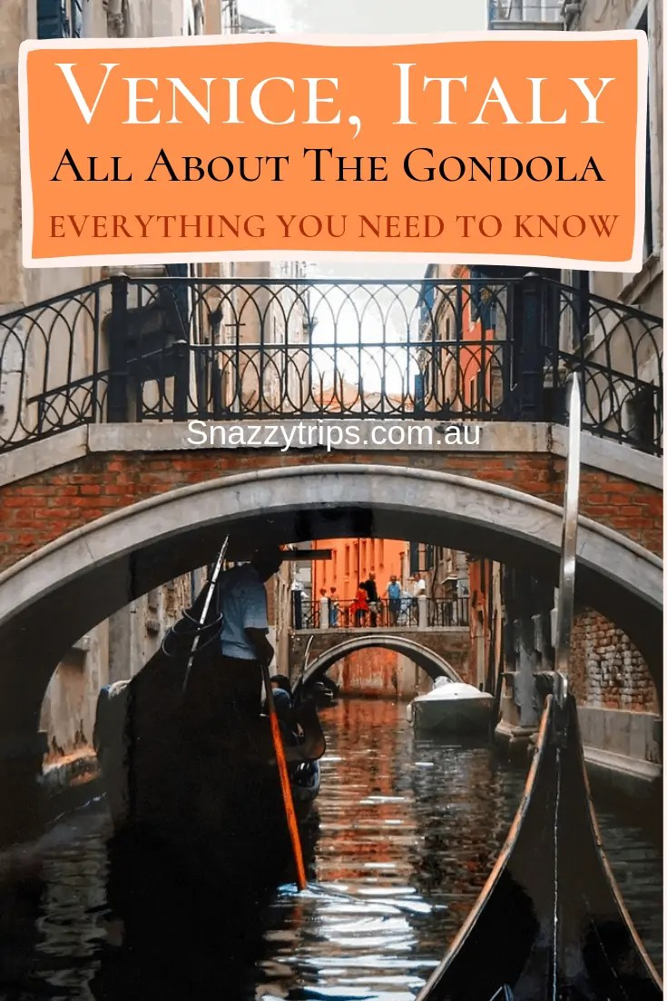 All about the gondola in Venice