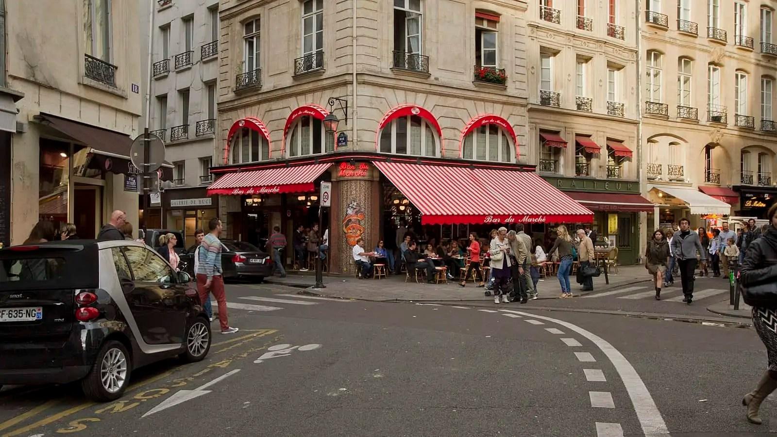 Saint Germain des Prés, Paris street scene