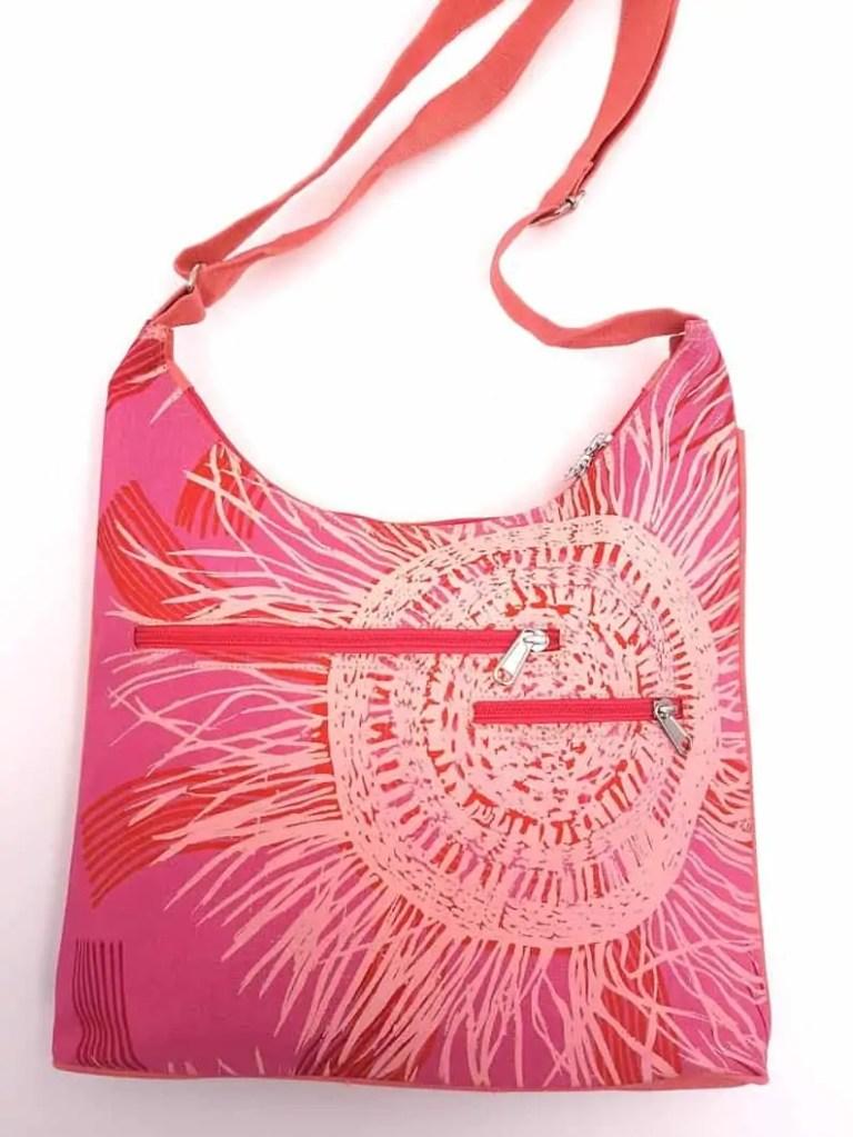 pink aboriginal print bag Snazzy Trips