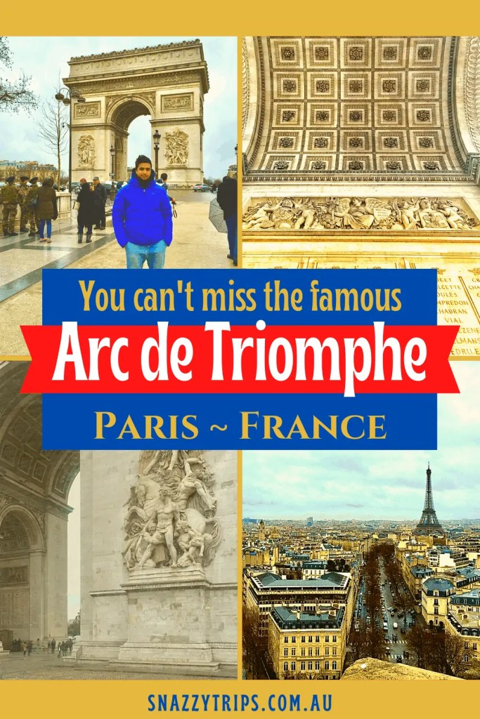 You cant miss the famous Arc de Triomphe in Paris France Snazzy Trips