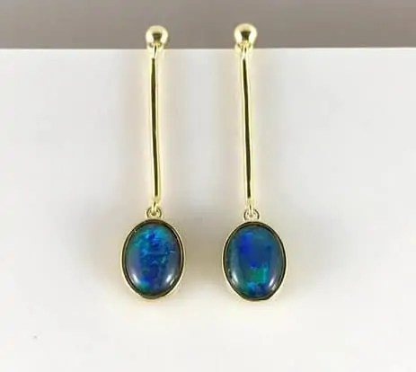 opal dangly earrings e1607169913158 Snazzy Trips