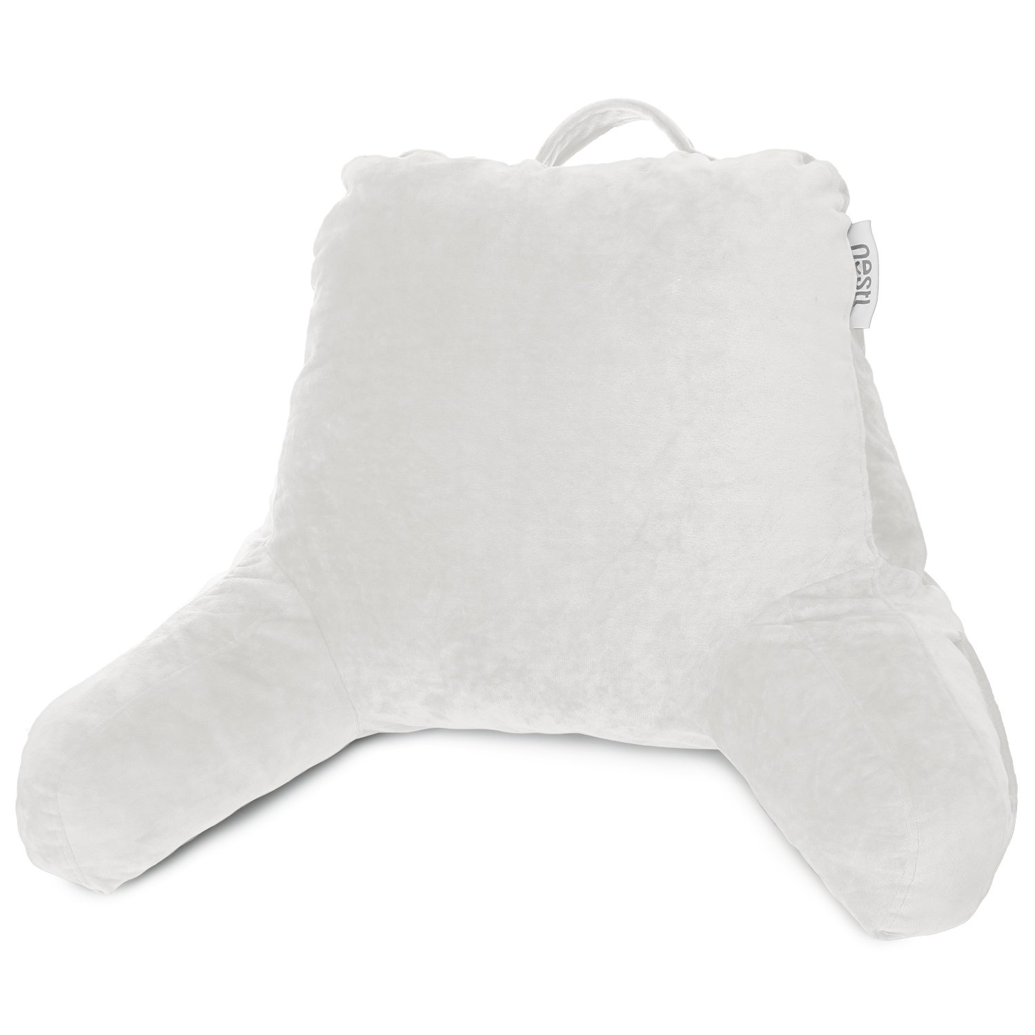 Super Foam Reading Pillow Tv Bed Rest Pillow Arms Support With Pockets White 541146155709 Ebay