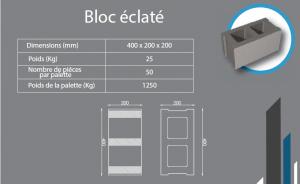 bloc éclaté 400x200x200