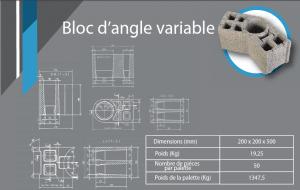 bloc d'angle variable 200x200x530
