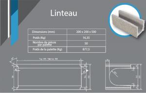Linteau 200x200x500