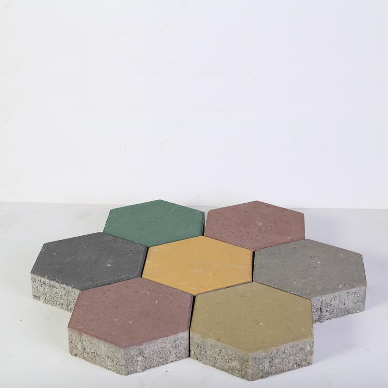 Pavé hexagonal bicouche Image