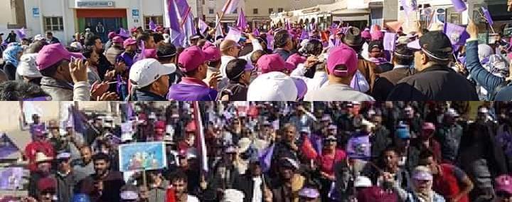 بعد فاس والمنع الذي طال مسيرة خريبكة، مناضلو ومناضلات مراكش أسفي يخرجون في مسيرة حاشدة بالصويرة