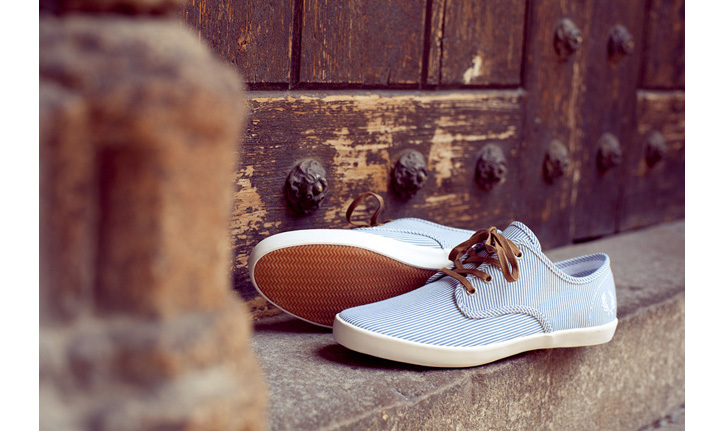 Photo03 - FRED PERRY FOXX WOVEN STRIPE SHOE