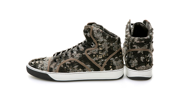 "Photo01 - Lanvin ""Camo Stud"" High-top Sneakers"