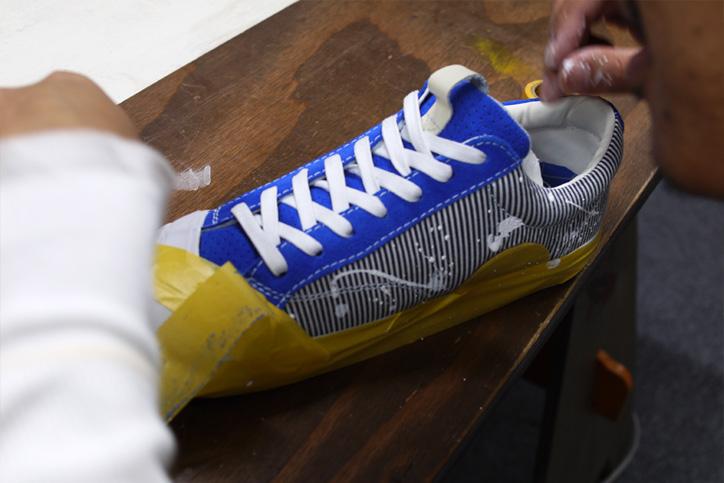 "Photo06 - LOSERS デザイナー sneakerwolf氏がドリッピング加工を施した LOSERS SCHOOLER LO ""Cobalt"" ""mita sneakers x sneakerwolf""を発売"