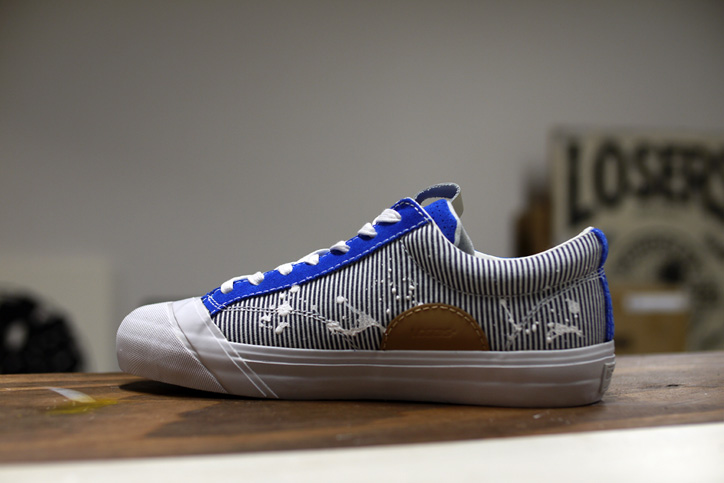 "Photo08 - LOSERS デザイナー sneakerwolf氏がドリッピング加工を施した LOSERS SCHOOLER LO ""Cobalt"" ""mita sneakers x sneakerwolf""を発売"