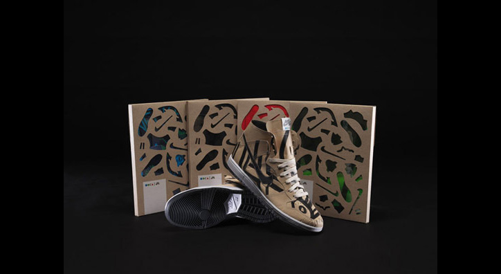 Photo02 - Nike SB x Geoff McFetridge Paper Dunk High for MOCA