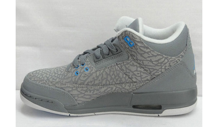 "Photo02 - AIR JORDAN 3 GS ""GREY FLIP"""