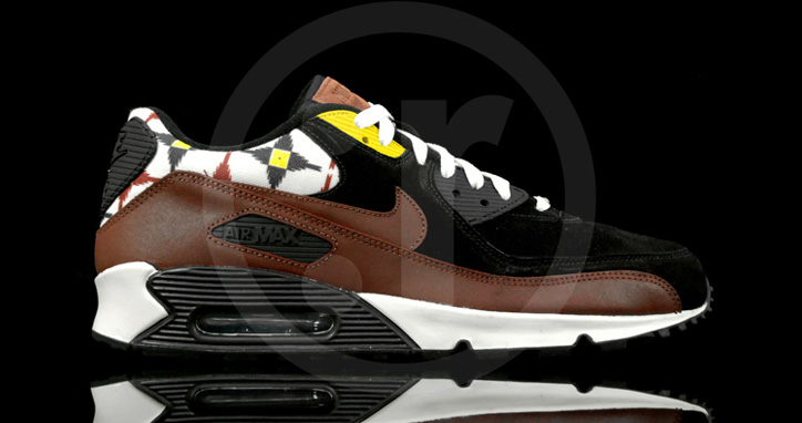 "Photo01 - NIKE AIR MAX 90 ""AZTEC"" BLACK/OXEN BROWN-SAIL"