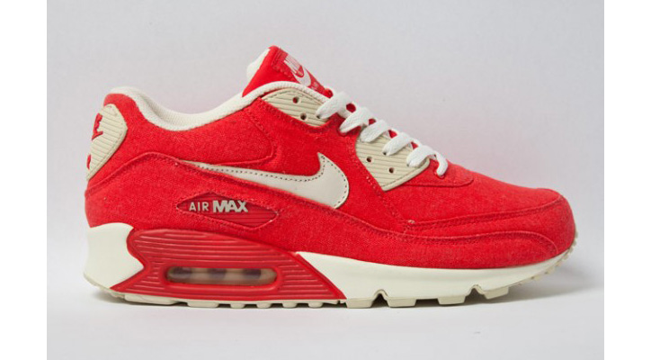 "Photo01 - NIKE AIR MAX 90 ""RED CANVAS"""