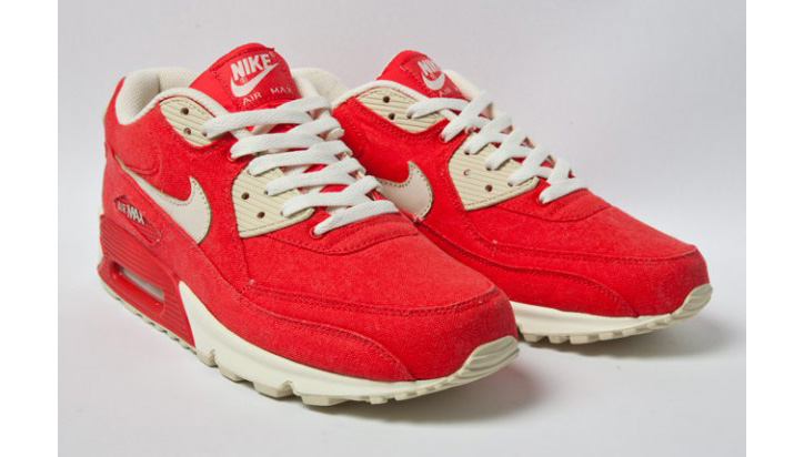 "Photo02 - NIKE AIR MAX 90 ""RED CANVAS"""