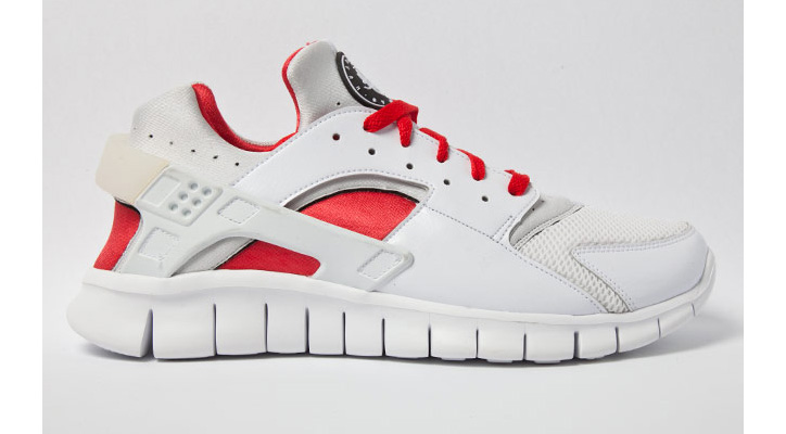Photo01 - NIKE HUARACHE FREE RED/WHITE