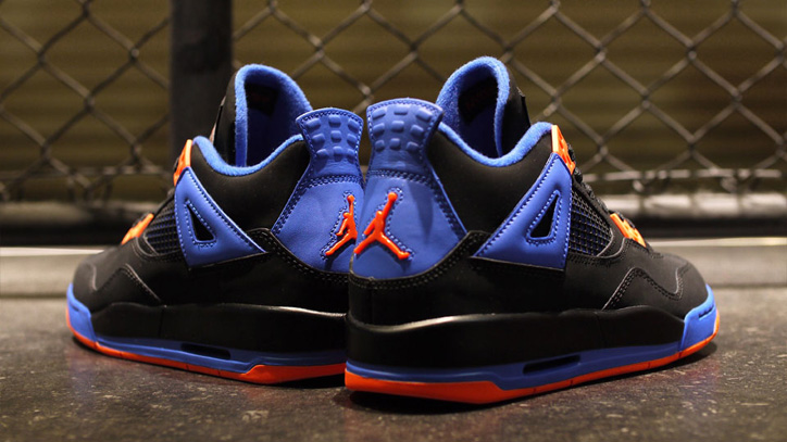 Photo06 - NIKE AIR JORDAN 4 RETRO BLACK/SAFETY ORANGE-GAME ROYAL
