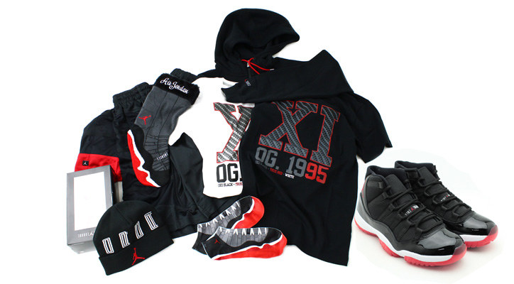 Photo01 - AIR JORDAN 11 COLLECTION BLACK/VARSITY RED