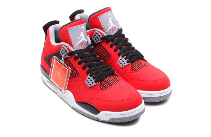 Photo02 - NIKE AIR JORDAN 4 RETRO FIRE RED/WHITE-BLACK-CEMENT GREY