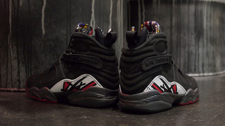 "Photo06 - NIKE AIR JORDAN VIII RETRO ""MICHAEL JORDAN"" BLK/RED/WHT"