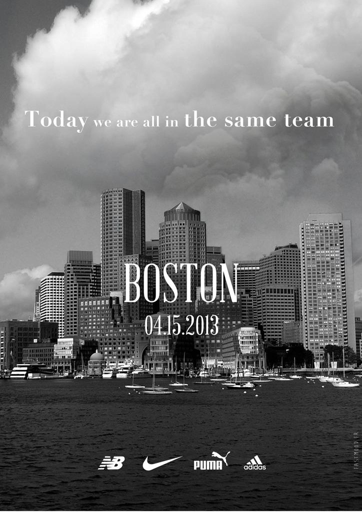 new balance、NIKE、Puma、adidasがボストンマラソン被害者のため共同広告を制作