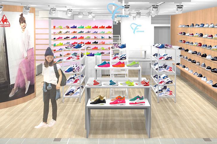 Photo01 - atmosが提案する女性のためのスニーカーセレクトショップF atmos、新宿LUMINE ESTにオープン