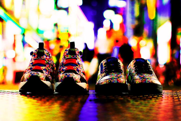 Photo01 - リーボック クラシックから、ネオン街をモチーフとしたatmosとのコラボモデルNEON DIGI CAMO PACKが登場