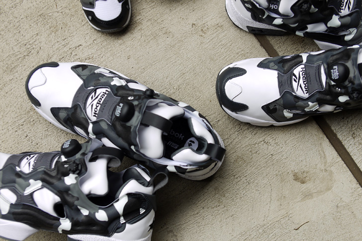 "Photo02 - リーボックは、mita sneakersとA BATHING APE®とのコラボモデル第3弾INSTA PUMP FURY ""CITY CAMO""を発売"