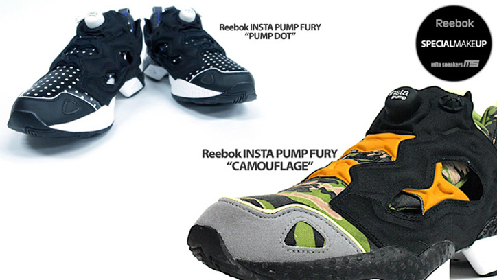 Reebok Pump Fury mita sneakers別注