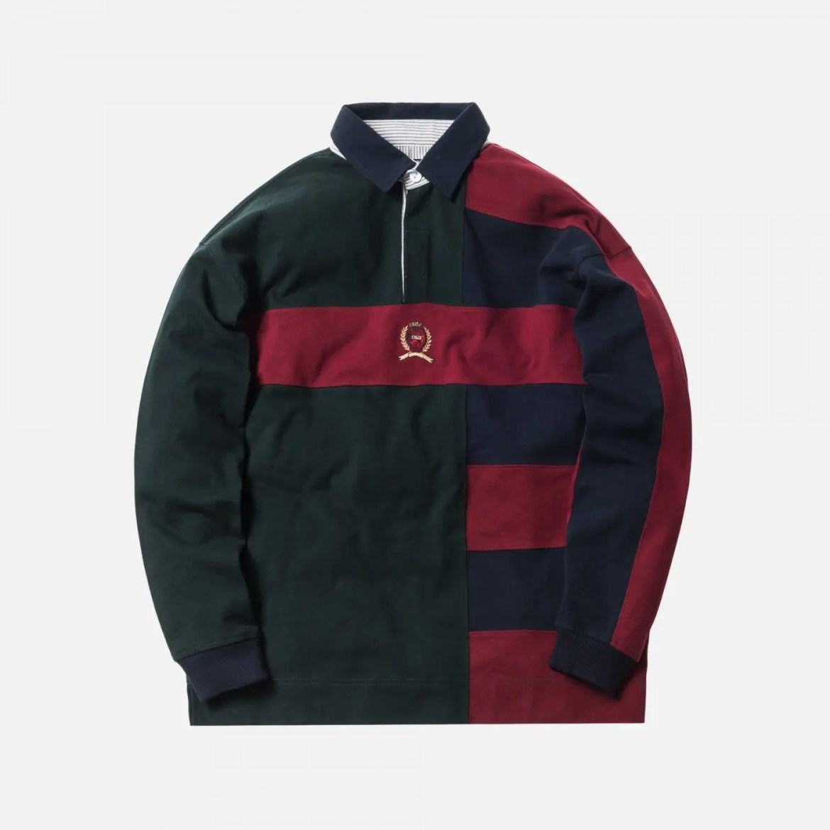 KITH X TOMMY HILFIGER COLOR BLOCK RUGBY - NAVY