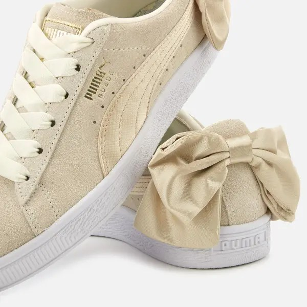 Puma Women's Suede Bow Varsity Trainers-01