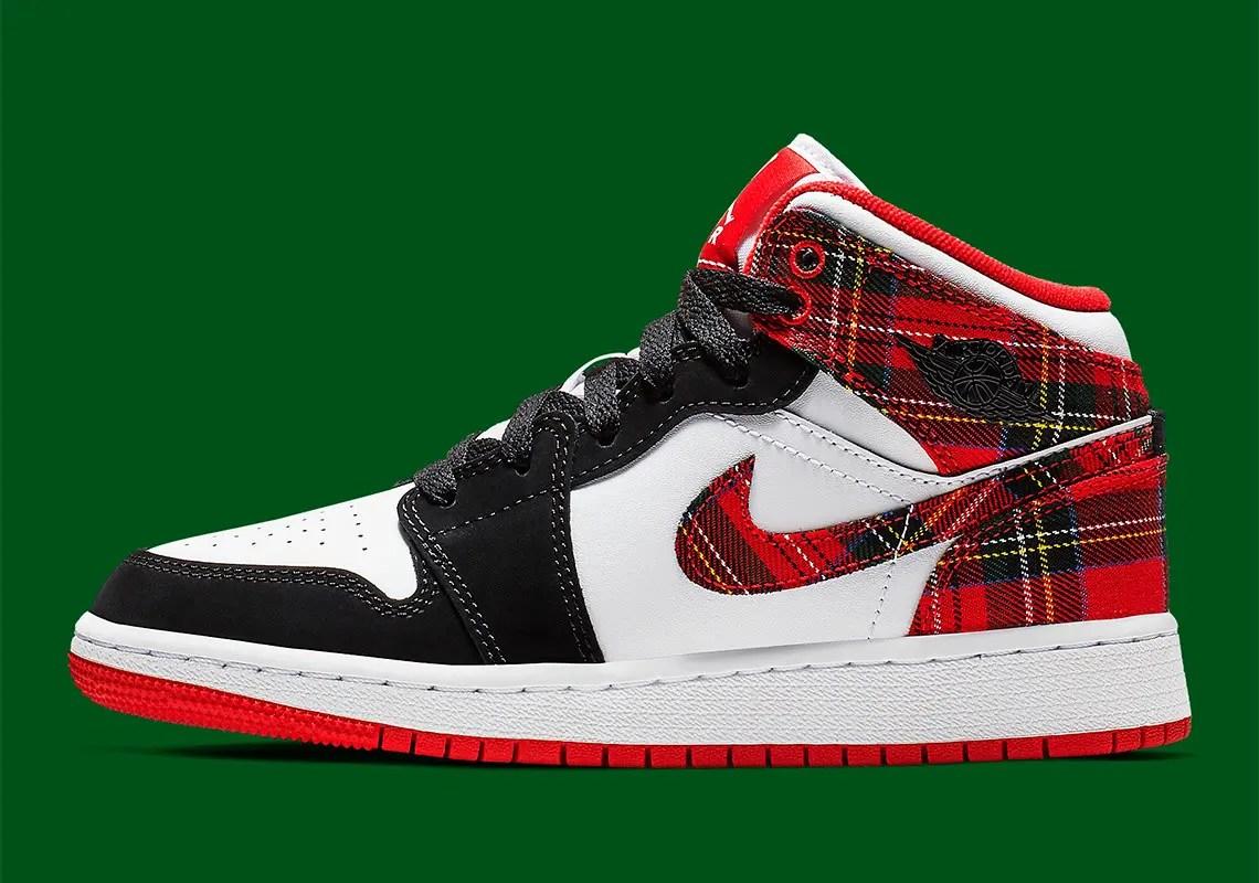 X'masなジョーダン!?【NIKE (ナイキ)】エア ジョーダン 1 から「バッドサンタ」が登場!Air Jordan 1 Mid GS 'Bad Santa'  (554725-607)