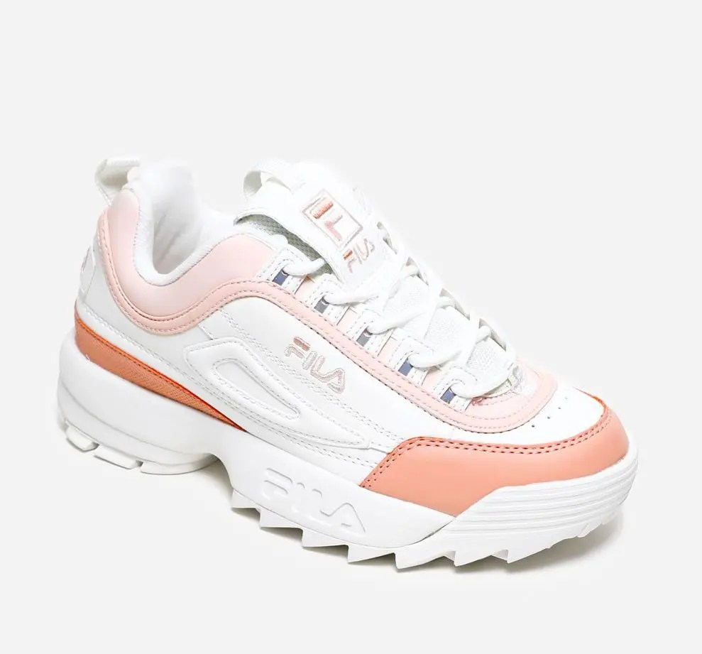 FILA Disruptor CB Low Marshmallow Salmon-5